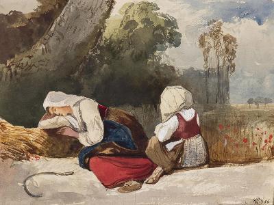 Gleaners Resting-Giacinto Gigante-Giclee Print