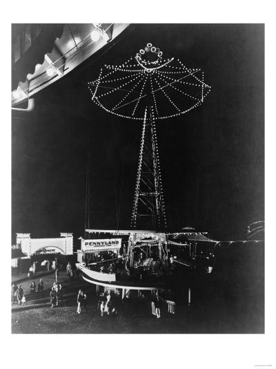 Glen Echo Amusement Park in Maryland Photograph - Maryland-Lantern Press-Art Print