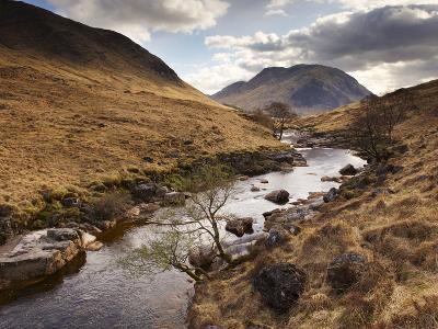 Glen Etive, Near Glen Coe (Glencoe), Highland Region, Scotland, Uk-Patrick Dieudonne-Photographic Print