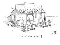 Woman, walking her dog, looks into window of shoe store as her dog looks i? - New Yorker Cartoon-Glen Le Lievre-Premium Giclee Print