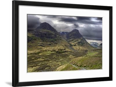 Glencoe Mountains on a Stormy Day, Scotland-PhotoImages-Framed Photographic Print