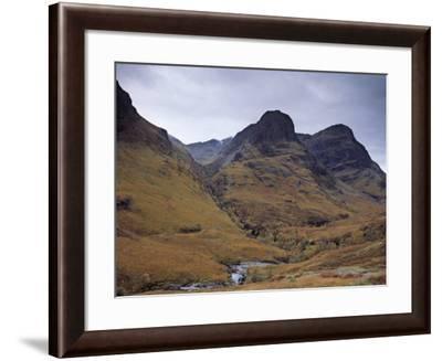 Glencoe Pass, Site of the Massacre of Glencoe, Highland Region, Scotland, UK-Patrick Dieudonne-Framed Photographic Print