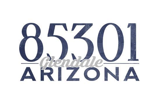 Glendale, Arizona - 85301 Zip Code (Blue)-Lantern Press-Art Print