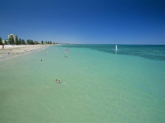 Glenelg Beach, Adelaide, South Australia, Australia-Neale Clarke-Photographic Print