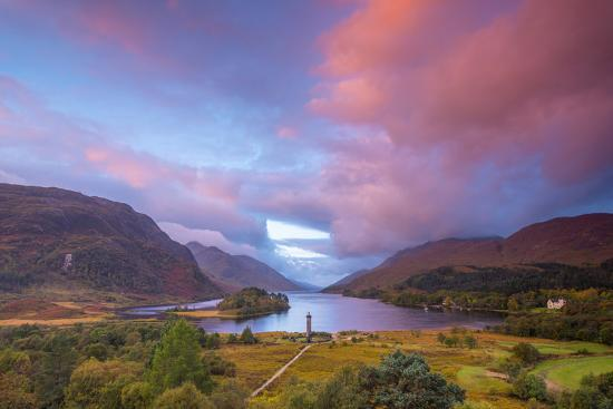 Glenfinnan Monument to the 1745 Landing of Bonnie Prince Charlie at Start of the Jacobite Rising-Alan Copson-Photographic Print