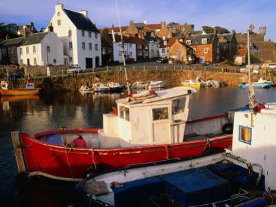 Boats in Crail Harbour Crail, Fife, Scotland