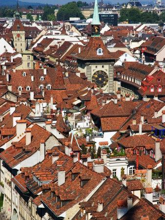 City Buildings From Top of Munster, Bern, Switzerland