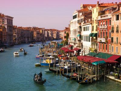 Gondolas on the The Grand Canal