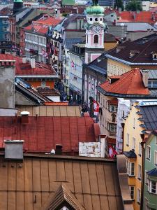 Historic Innsbruck from Stadtturm (City Tower), Innsbruck, Austria by Glenn Beanland