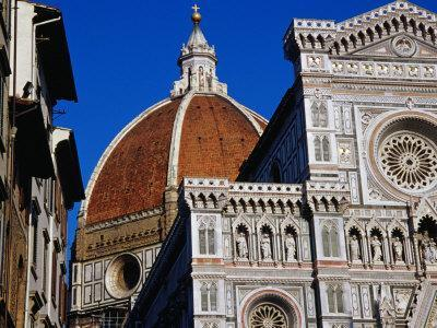 Looking Up at Duomo, Florence, Tuscany, Italy