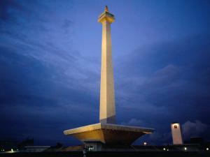 National Monument (Monas), Merdeka Square, Jakarta, Indonesia by Glenn Beanland