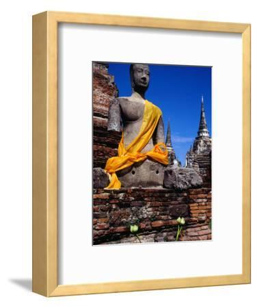 Seated Buddha of Wat Phra Si Sanphet in Ayuthaya Historical Park, Ayuthaya, Thailand