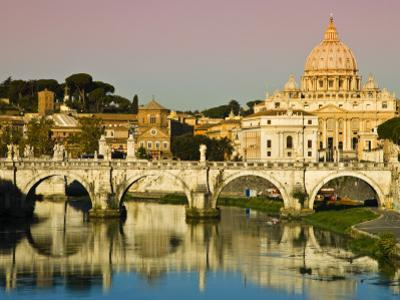 St Peter's Basilica from the Tiber River