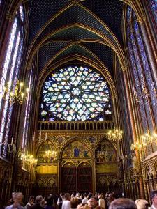 Stained Glass Windows of the Upper Chapel of Ste-Chapelle, Paris, France by Glenn Beanland