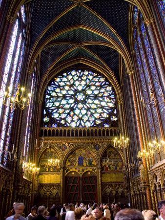 Stained Glass Windows of the Upper Chapel of Ste-Chapelle, Paris, France