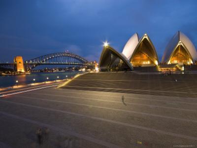 Sydney Opera House and Harbour Bridge at Dusk