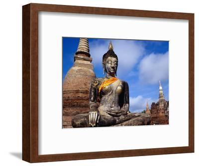 The Seated Buddha at Wat Mahathat in Sukhothai Historical Park, Thailand