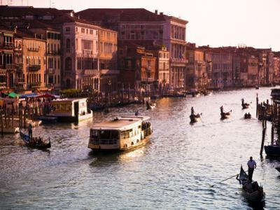 Vaporetto and Gondolas on the Grand Canal