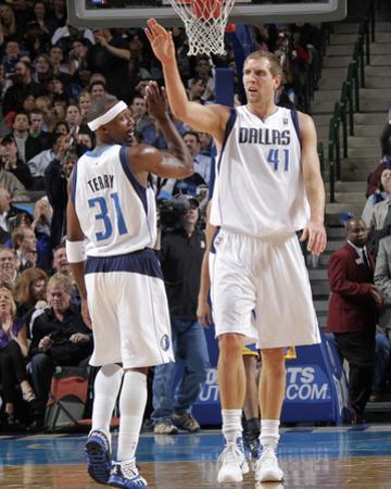 Golden State Warriors v Dallas Mavericks: Dirk Nowitzki and Jason Terry