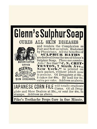 Glenn's Sulphur Soap--Art Print