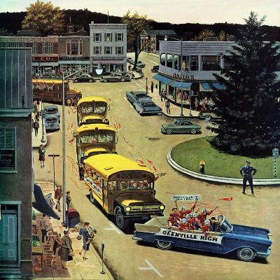 """""""Glenville High Boosters"""", October 31, 1959-Ben Kimberly Prins-Giclee Print"""