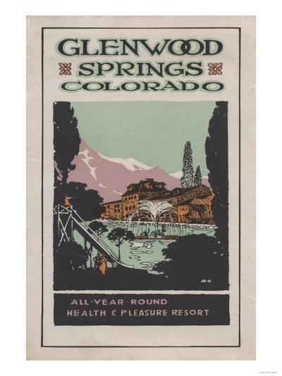Glenwood Springs, Colorado - Health Resort Poster No. 2-Lantern Press-Art Print