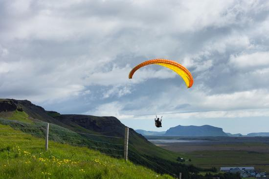 Glider at Skogafoss-Catharina Lux-Photographic Print