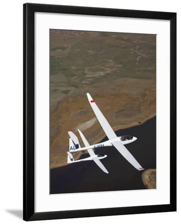 Gliders Racing near Omarama, South Island, New Zealand-David Wall-Framed Photographic Print