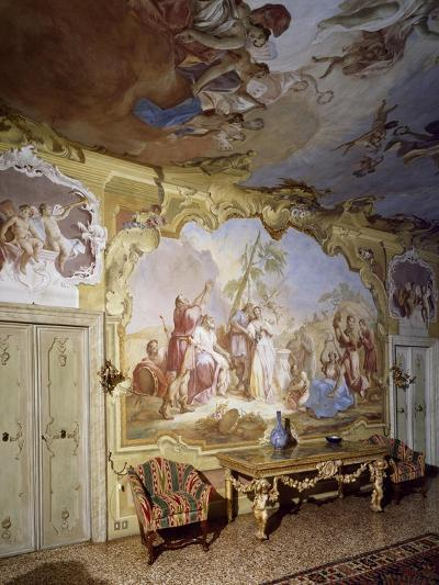 Glimpse of Central Hall with Frescoes--Giclee Print