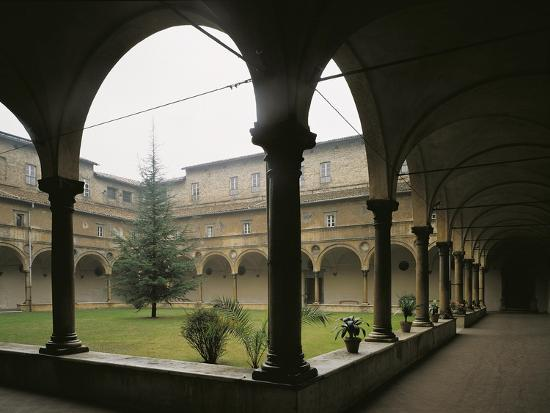 Glimpse of Cloister, St Benedict Abbey of San Giovanni Evangelista, Parma, Italy, 16th Century--Giclee Print