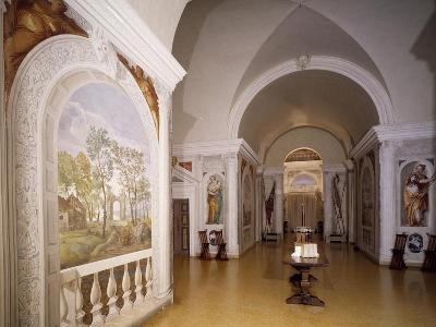 Glimpse of Cruciform Hall with Frescoes--Giclee Print