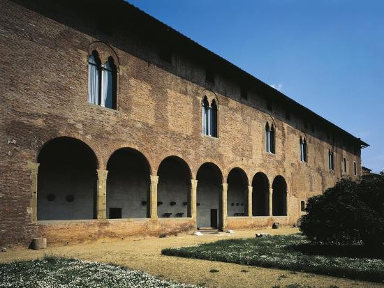 Glimpse of Facade, Villa Guinigi, Lucca, Tuscany, Italy--Giclee Print