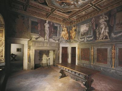 Glimpse of Fireplace Hall with Decorations by Giorgio Vasari--Giclee Print