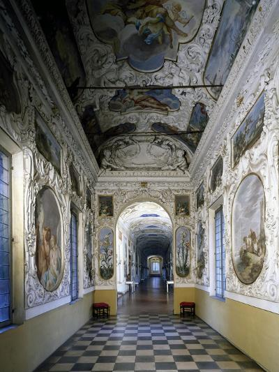 Glimpse of Hall and Poets' Gallery, Rocca Meli-Lupi of Soragna, Near Parma, Emilia-Romagna, Italy--Giclee Print