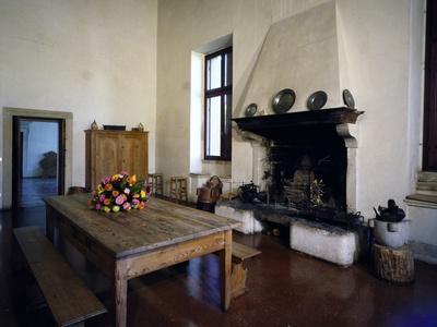 Glimpse of Large Kitchen, Villa Pisani-Bonetti--Photographic Print