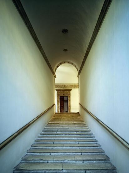 Glimpse of Monumental Staircase of Honor, 1466-1472-Luciano Laurana-Giclee Print