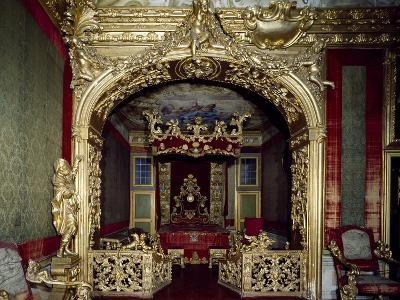 Glimpse of Nuptial Chamber, with Decorations, Rocca Meli, Lupi of Soragna, Near Parma--Giclee Print