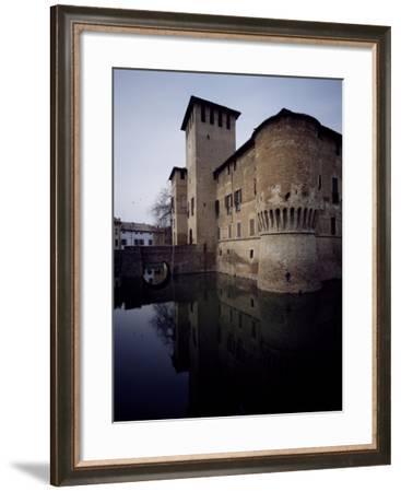Glimpse of Rocca Sanvitale with Moat, Fontanellato, Near Parma, Emilia-Romagna, Italy--Framed Giclee Print