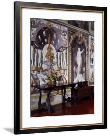 Glimpse of Sala Baglione or Hall of Grotesque, with Frescoes by Cesare Baglione--Framed Giclee Print