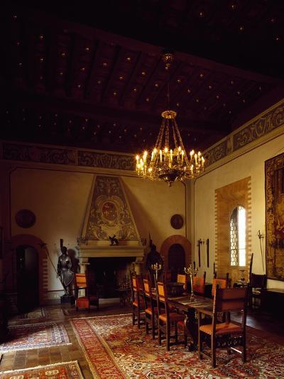 Glimpse of the Weapons Room, Castle of Gropparello, Near Piacenza, Emilia-Romagna, Italy--Giclee Print