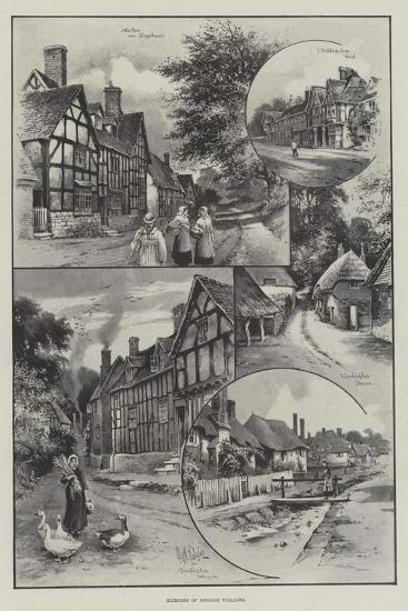 Glimpses of English Villages--Giclee Print
