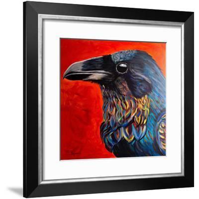 Glistening Raven-Melissa Symons-Framed Art Print