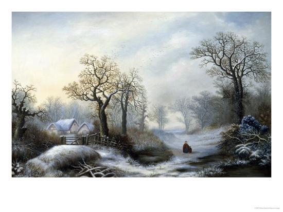 Glistening Winter's Eve-William Stone-Giclee Print
