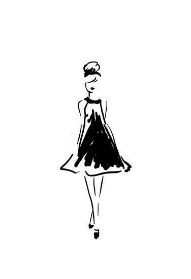 Glitter Fashion 1 v2-Kimberly Allen-Art Print