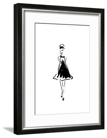 Glitter Fashion 1 v2-Kimberly Allen-Framed Art Print