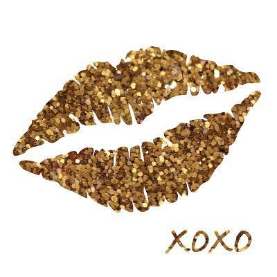 Glitter Lips Sq I-N^ Harbick-Art Print