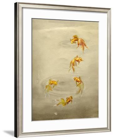 Glittering Goldfish-Peggy Harris-Framed Giclee Print