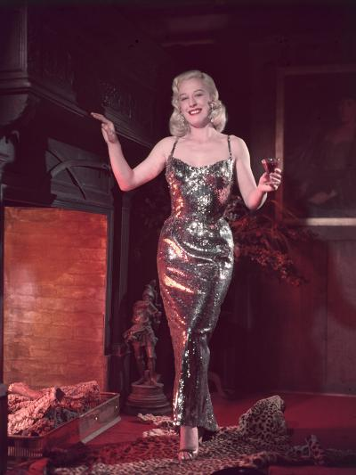 Glitzy Dress 1950s-Charles Woof-Photographic Print