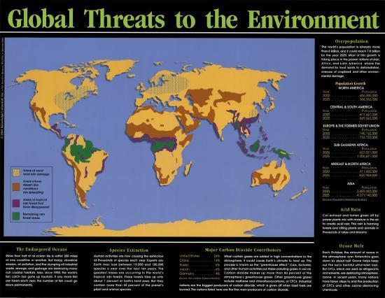 Global Threats to the Environment--Art Print