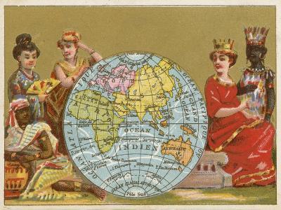 Globe - 19th Century French Trade Card--Giclee Print